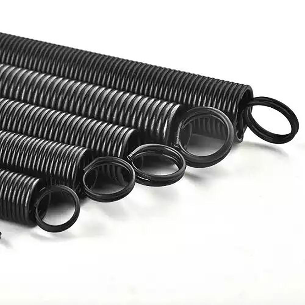 1 шт. прочная закалоченная черная 65Mn стальная пружина расширения Двойная Петля L:300 мм