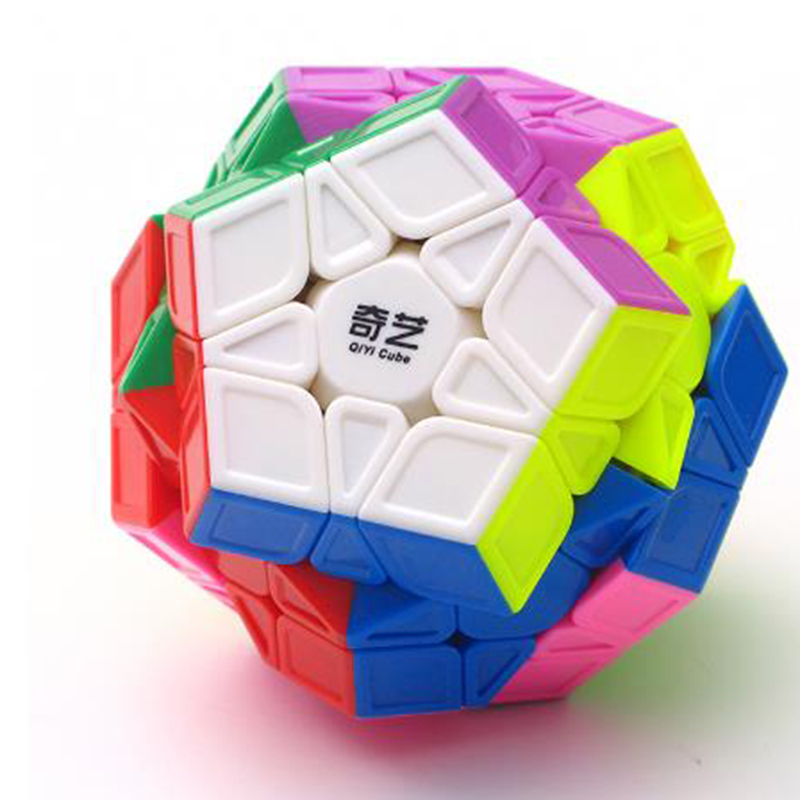 Adult Puzzle Cube Toy, Megaminxeds Magic Cube 12 Sides 3x3 Puzzle Magic Cubo QiYi 3x3 Megaminxeds Speed Cube Toy