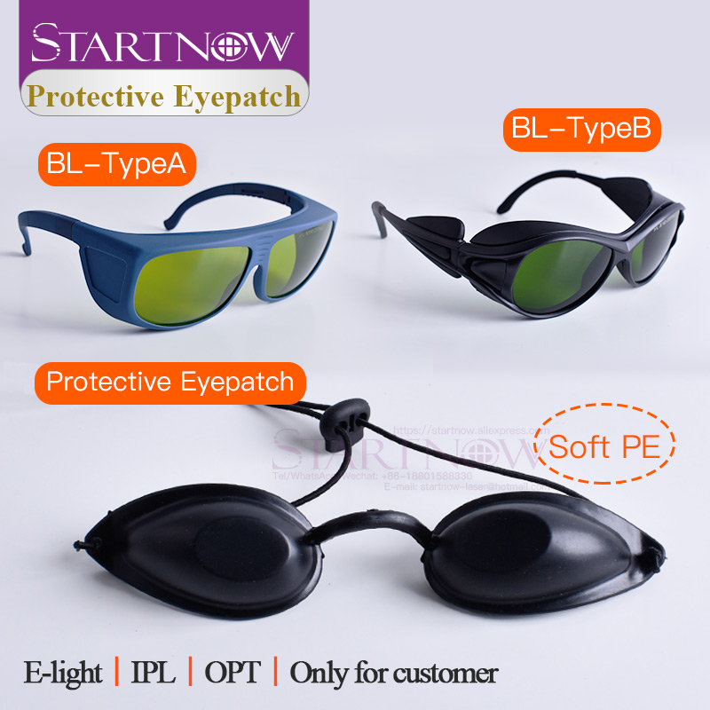 IPL Hair Removal Laser Safety Eyepatches For Medical Beauty 190nm-2000nm Laser Glasses Eye Mask Laser Light Protective Goggles