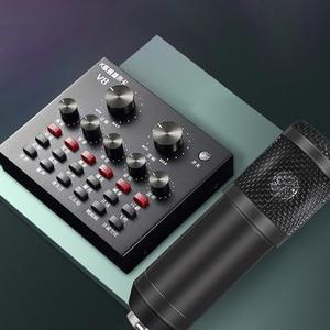 Image 3 - 8Pcs/set Bm 800 Microphone Kit For Computer 7 Colors With V8 Sound Card Professionnel Microfone Studio Microfono Condensador