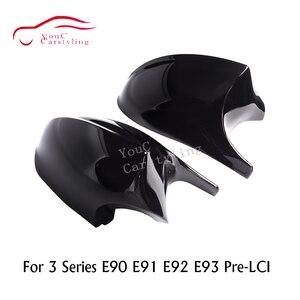 Зеркальные крышки E92 E90 M3 Style ABS 1:1, запасная часть для BMW 3 серии E92 E93 06-09 E90 E91 05-07, зеркало заднего вида