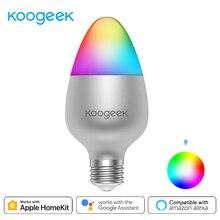 Koogeek 8W Dimmable Wifi lumière E26 ampoule LED intelligente 16 millions de couleurs pour Apple HomeKit télécommande pour Alexa Google Assistant