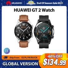 Huawei-reloj inteligente GT2, dispositivo con Bluetooth 5,1, control del ritmo cardíaco, llamadas telefónicas y batería de 14 días de duración, Android e iOS, versión Global