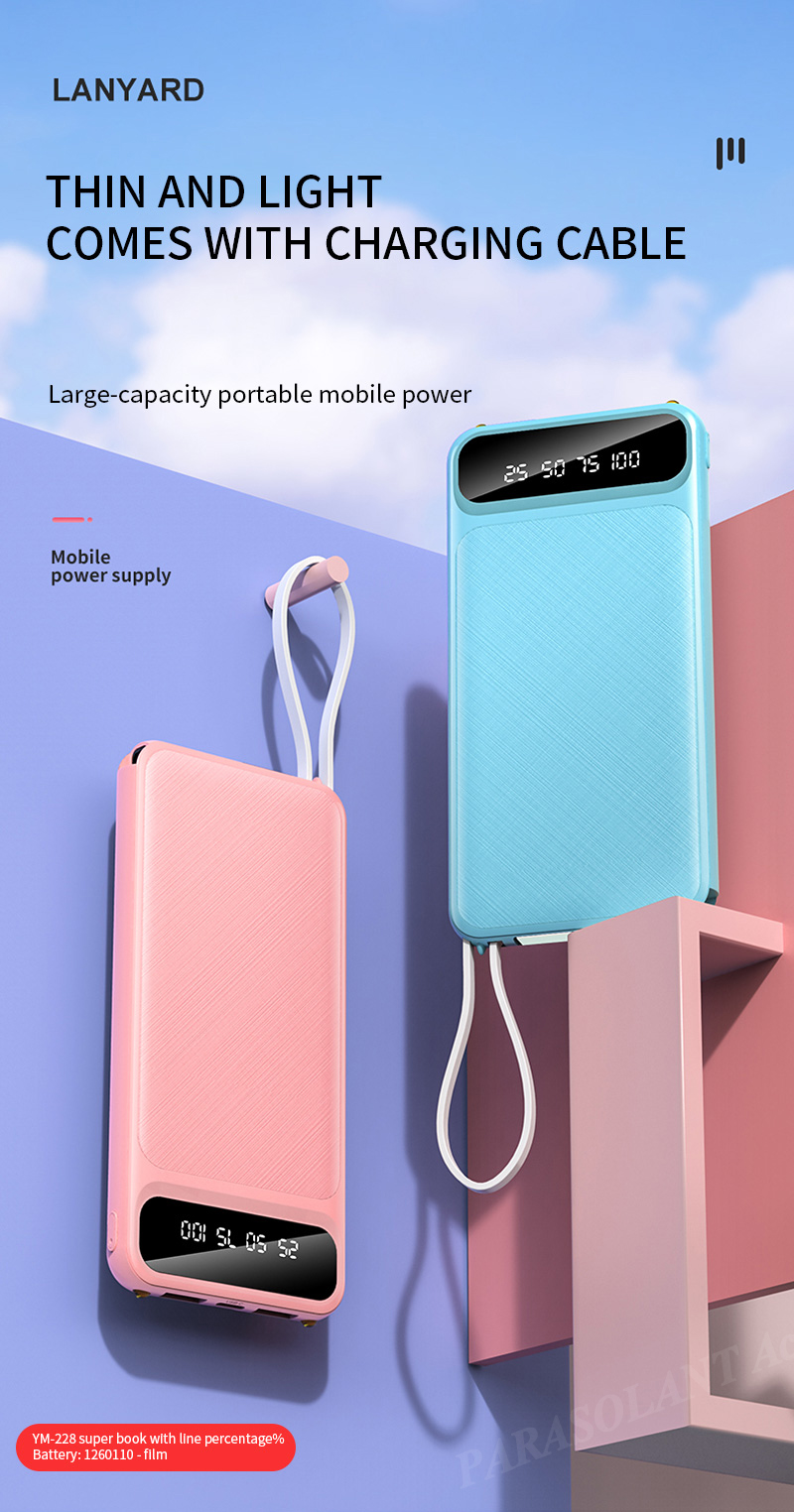 Portable 10000mAh Charging Power Bank For Xiaomi iPhone Samsung Mobile Phone 6