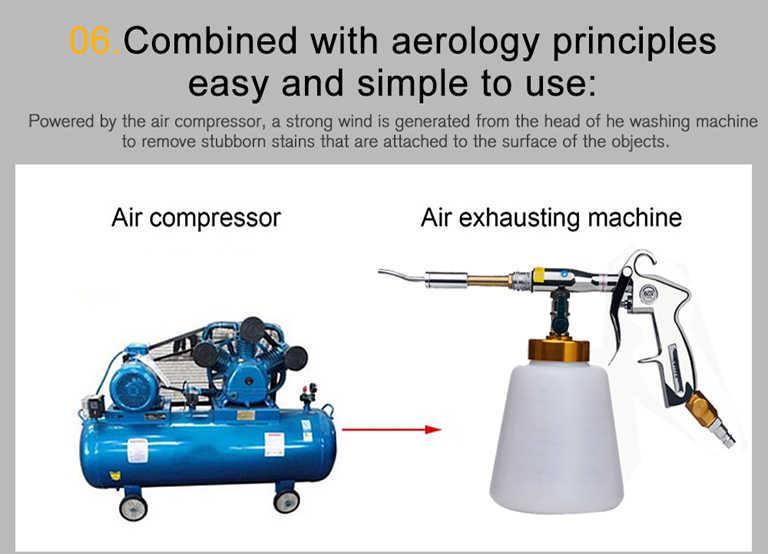 Auto Wassen voor Tornador Wasmachine Automotive Interieur Deep Cleaning Machine Pistool Met Borstel Hoge Druk