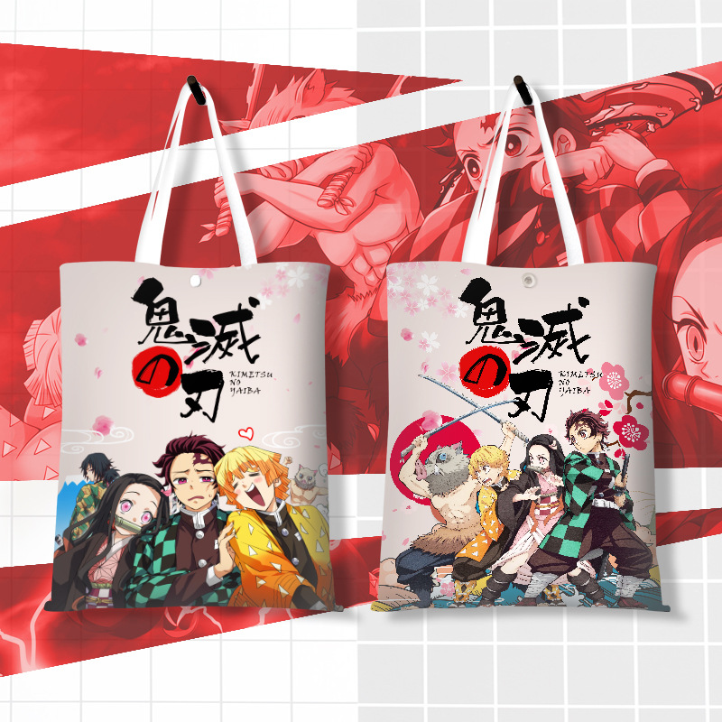 Japan Anime Comic Demon Slayer: Kimetsu No Yaiba Animation Canvas Shoulder Bag Handbag