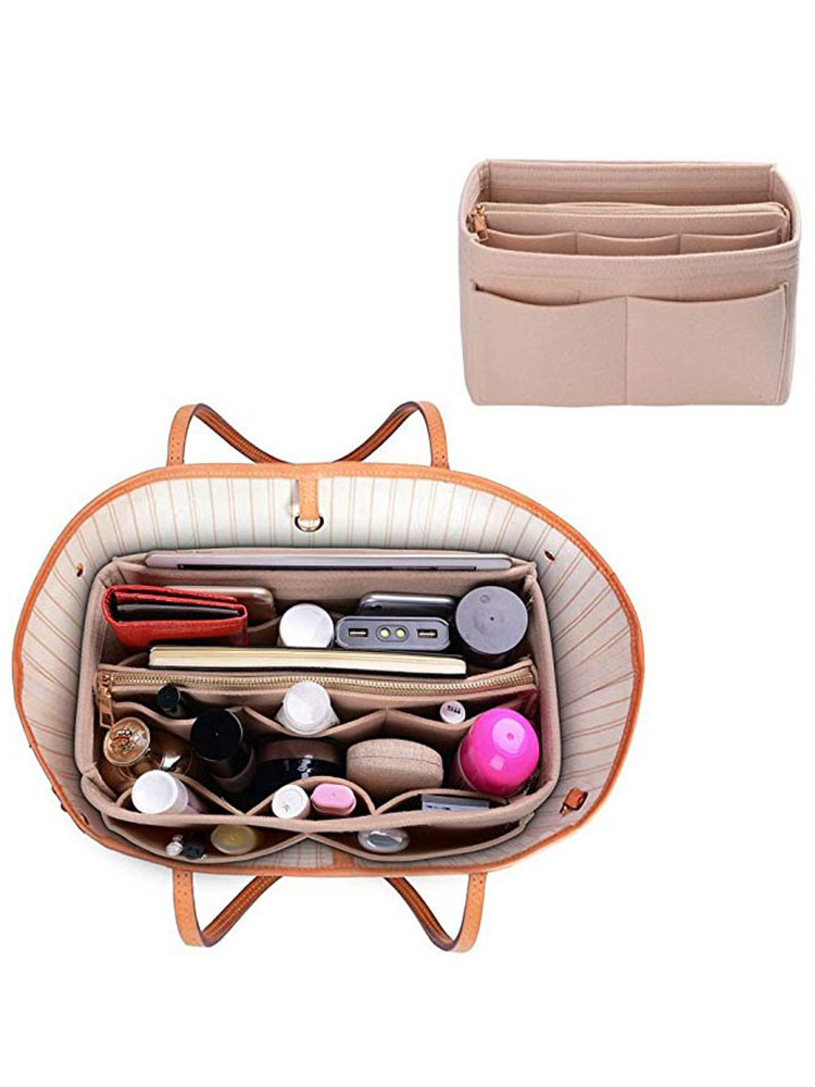 HHYUKIMI Insert-Bag Handbag Inner-Purse Make-Up-Organizer Travel Felt Portable Brand