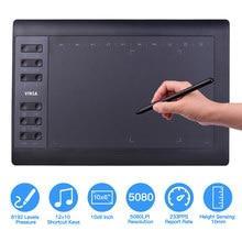 10X6 Inch Professionele Grafische Tekening Tablet 12 Express Toetsen Met 8192 Niveaus Batterij-Gratis Stylus Penpunten/pen Clip