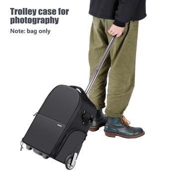 Neewer 2-in-1 Wheeled Camera Backpack Luggage  4
