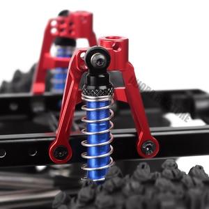 Image 3 - 4pcs CNC אלומיניום אדום מול & אחורי 1/10 הלם בולמי הר לrc Crawler הצירי SCX10 השני שדרוג חלק