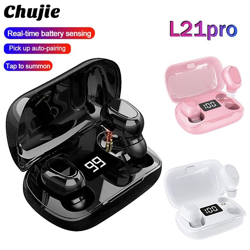 Беспроводные Bluetooth-наушники L21 Pro TWS, водонепроницаемые спортивные стереонаушники-вкладыши для Iphone, Oppo, Huawei, Xiaomi, музыкальные наушники