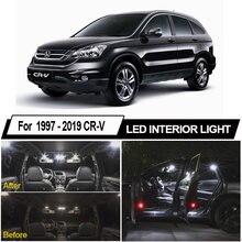 Lâmpada led canbus branca com mapa interior, luzes para honda CR-V crv 1997-2015 2016 2017 2018, licença luz de placa sem erro