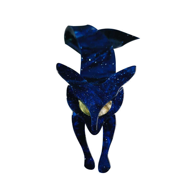 Fant e Martinetti In edizione Limitata Fire Fox Spille Spilla Uomo Delle Donne Acrilico Del Seno Vestito Cappelli Accessorio di Abito Vintage Spilla Collezione