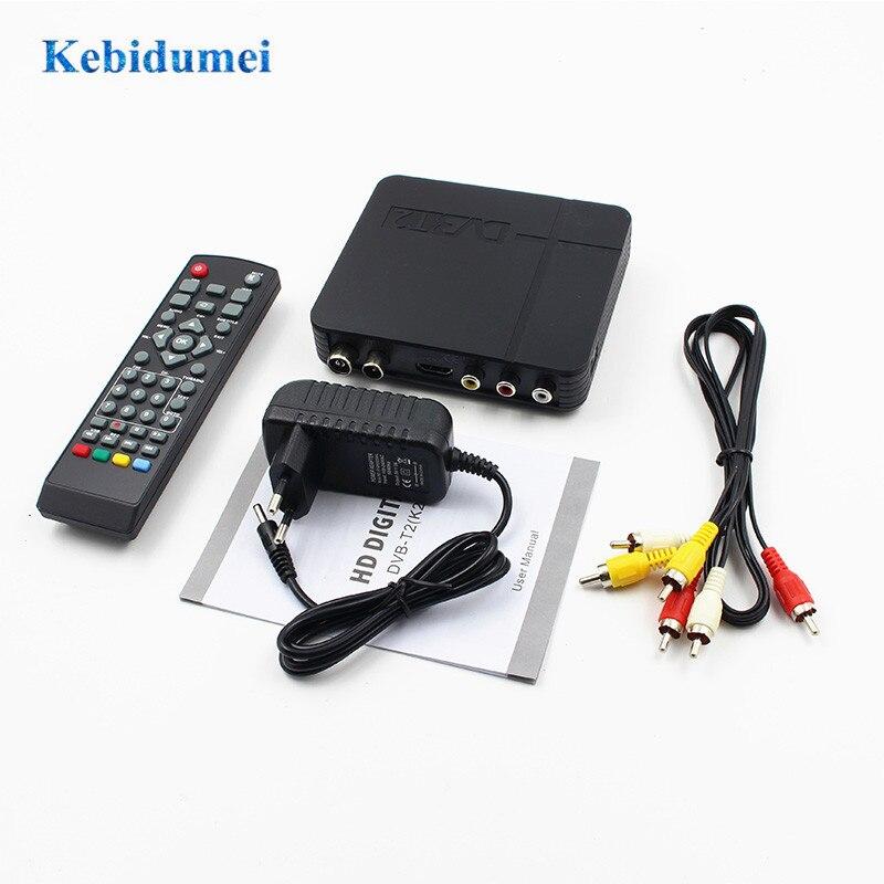 Kebidumei DVB-T2 Terrestrial Digital Satellite TV Signal Receiver Decoder TV Box HD 1080P PVR Dvb T2 Mini Set Top Box Wholesales