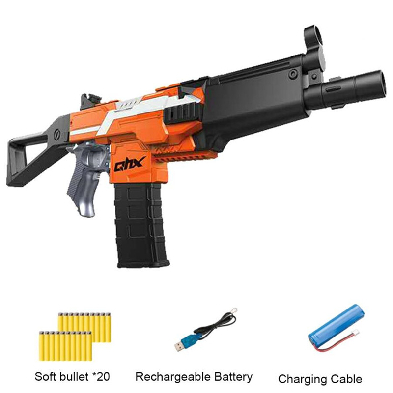 Dart Blaster Toy Gun Electric Burst Soft Bullet Gun Suit For Nerf Bullets For Boy Outdoor Toy Rifle Kids Gift