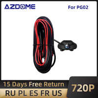 AZDOME-Cámara de Vista trasera de coche PG02, 720P, espejo de salpicadero, grabador de vídeo DVR, impermeable, cámaras de respaldo para vehículo
