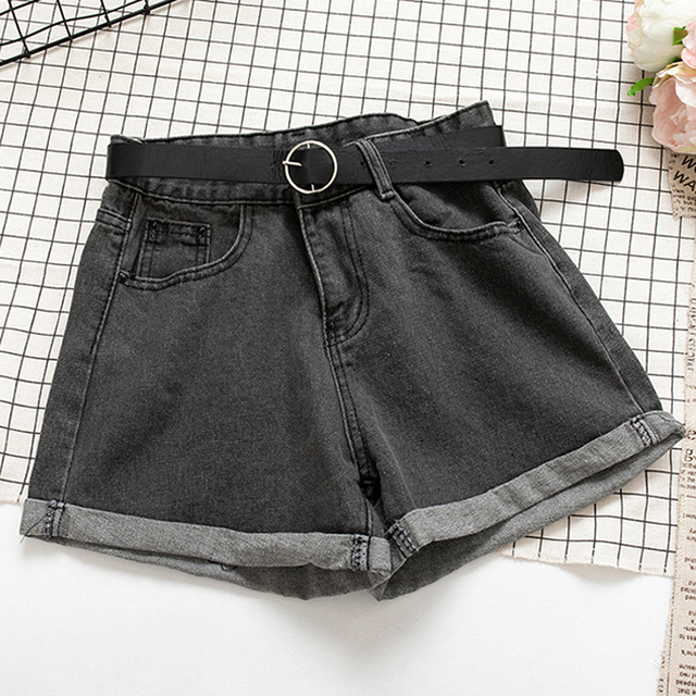 YuooMuoo All Match Sashes Casual Women Denim Shorts Crimping High Waist Slim Summer Jeans Shorts Feminino Chic Hot Ladies Bottom 5