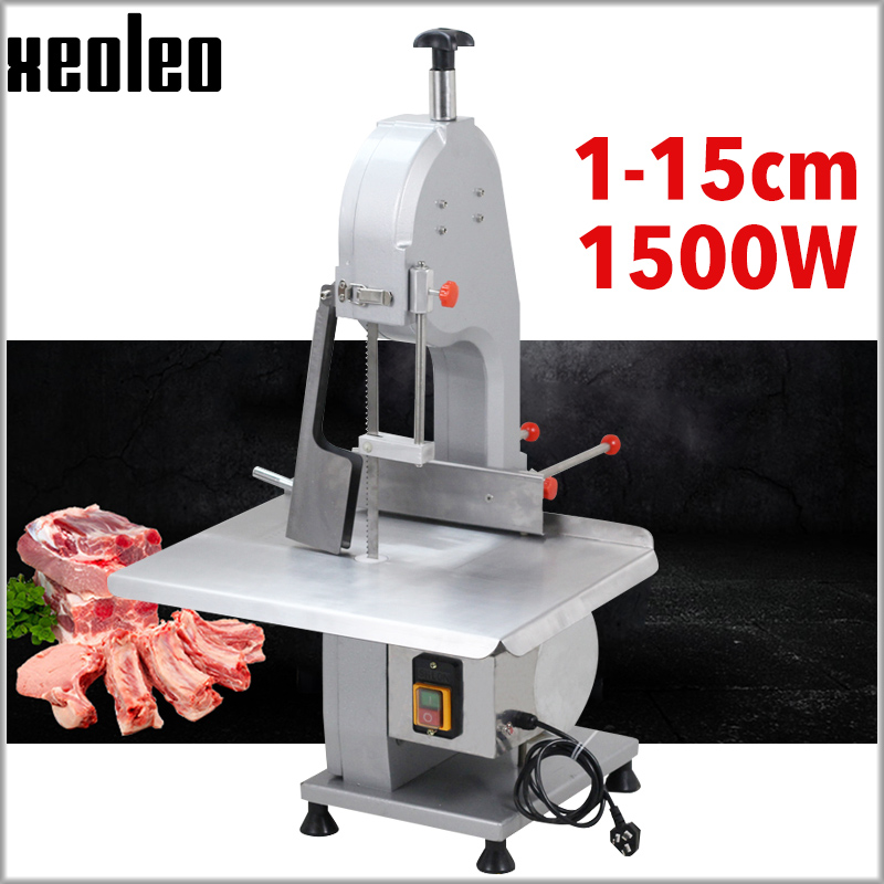 XEOLEO Meat Bone Saws Bone Cutter Machine Electric Bone Saw Frozen Meat Cutter Commercial Desktop Cutting Trotter/Ribs Machine