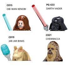 Darth vader guarda real do imperador obi wan han jar binks solo finn chewbacca blocos mini figura de ação brinquedos