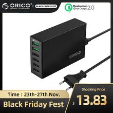 ORICO QC 2.0 chargeur rapide avec 4 Ports 5V2.4A 50W Max sortie téléphone portable USB chargeur de bureau pour iPhone xiaomi huawei