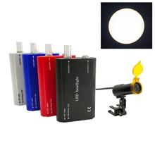 Dental Werkzeuge Medizinische Ausrüstung Chirurgische 3W LED Scheinwerfer für Dental lupen Lupa Mit Filter