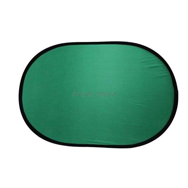 ドロップ 100*150 センチメートルオーバル折りたたみポータブル反射青とグリーンスクリーンクロマキーフォトスタジオライトリフレクター写真