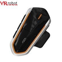 VR ロボットオートバイの Bluetooth インターホン QTBE6 防水ワイヤレスモトヘルメットヘッドセットハンズフリー FM ライドウインターホン 2 ライダー