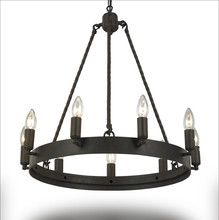 цена на Wrought Iron Chandelier Lighting For Living Room Bedroom E14 LED Vintage Home Decor Nordic Loft Lustre Retro Black Chandeliers