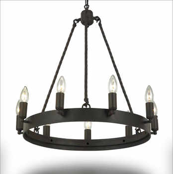 Wrought Iron Chandelier Lighting For Living Room Bedroom E14 LED Vintage Home Decor Nordic Loft Lustre Retro Black Chandeliers - DISCOUNT ITEM  30% OFF All Category