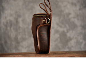 Image 4 - PNDME 정품 가죽 남성 허리 팩 빈티지 오토바이 벨트 가방 다기능 미친 말 소 가죽 매일 작은 어깨 가방