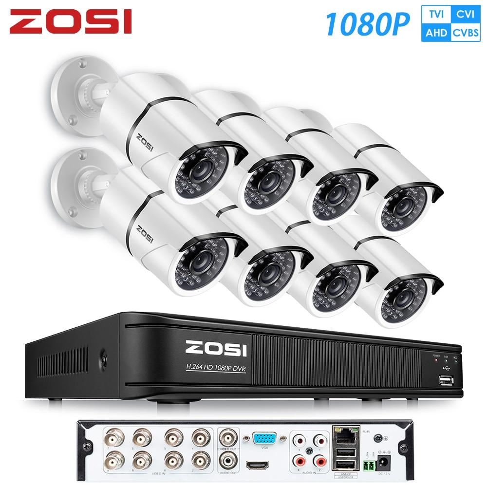 ZOSI HD 8CH 1080P 2,0 MP Sicherheit Kameras System 8*1080P Indoor/Outdoor Nachtsicht CCTV home Security System Überwachung Kit