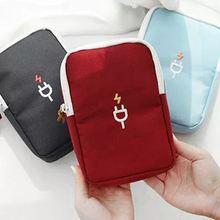 Мини сумка для кабеля дорожные usb устройства кабели чехол медицинская