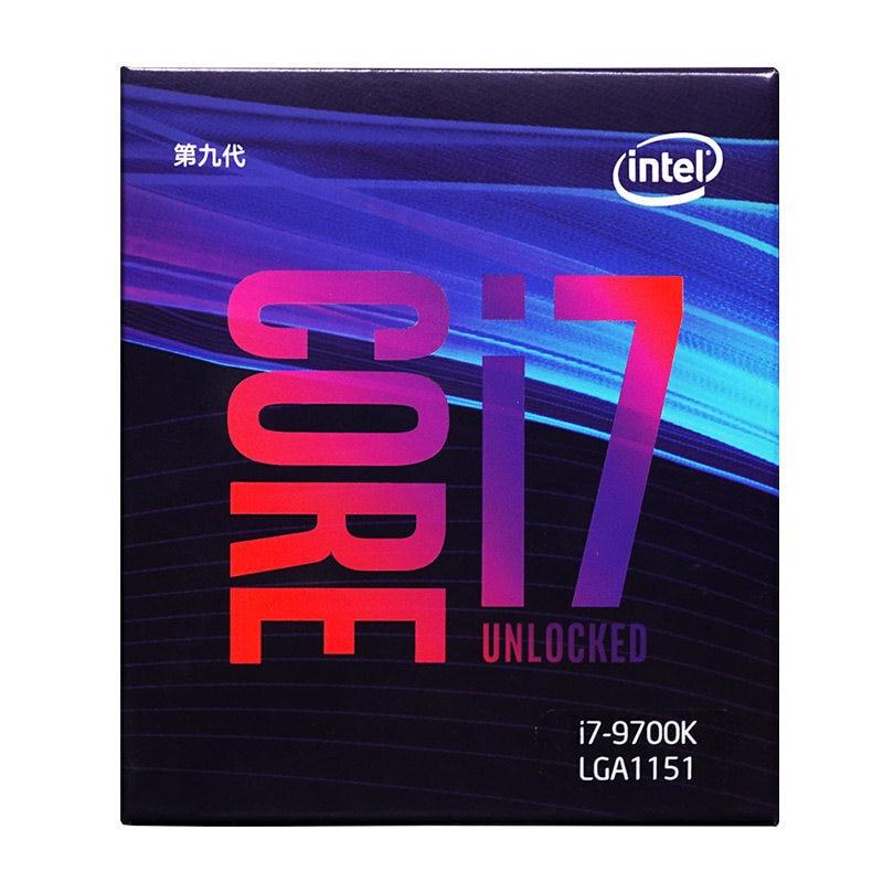 Intel Core i7-9700K Desktop Processor 8 Cores up to 4.9 GHz Turbo unlocked LGA1151 300 Series 95W Desktop Cpu 1