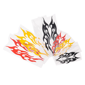 1pc Car-styling Vinyl Covers Auto Flame Fire Sticker Universal Car Sticker Styling Engine Hood Motorcycle Decal Decor image