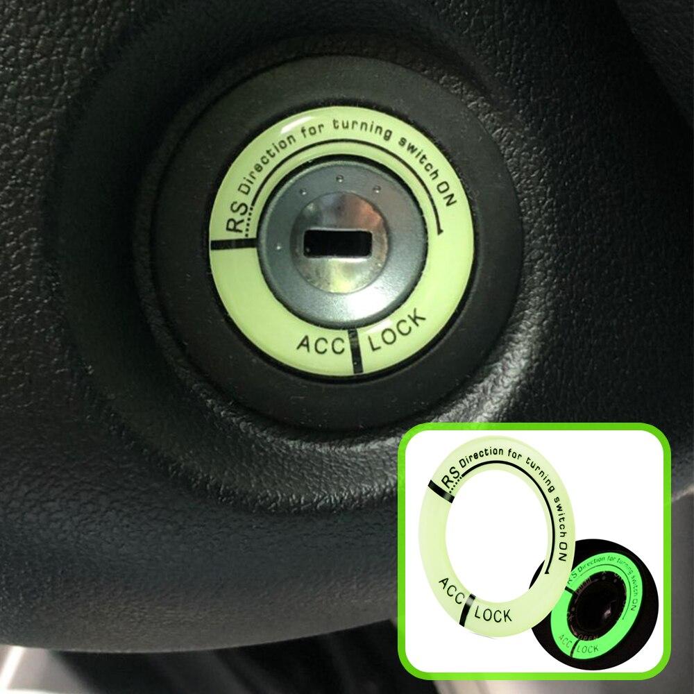Автомобильный брелок для ключей Стикеры светящаяся наклейка на зажигание переключатель крышки для Защитные чехлы для сидений, сшитые спец...