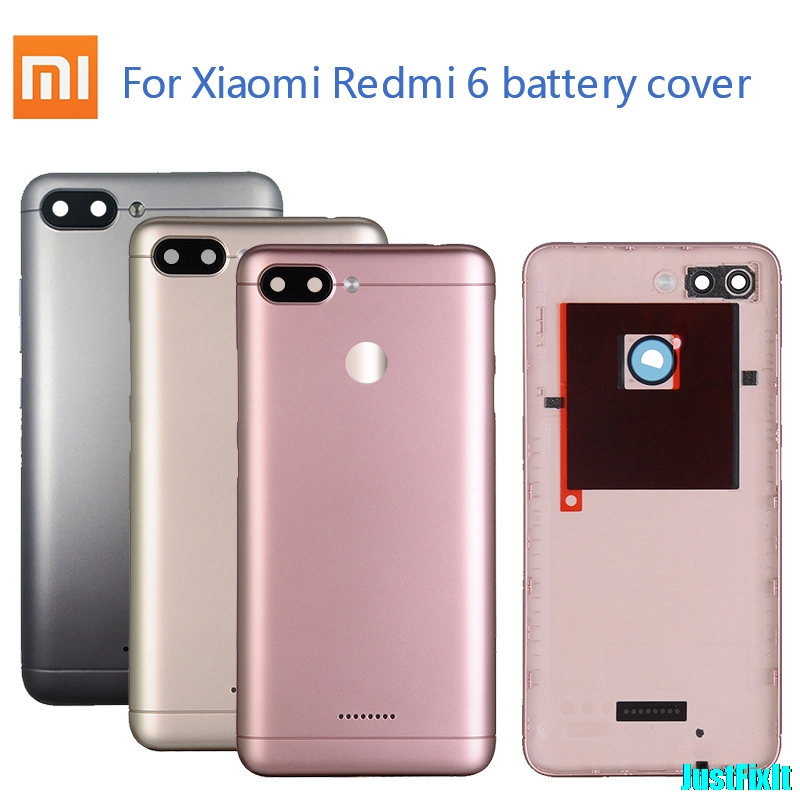 Original Housing Case For Xiaomi Redmi 6/6A Battery Back Cover Replacement Parts Case For Redmi6/6A Rear Back Cover