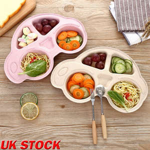 Faroot Tableware Bowls Dishes-Tray Car-Food-Plates Feeding-Food Toddler Baby Eco-Friendly
