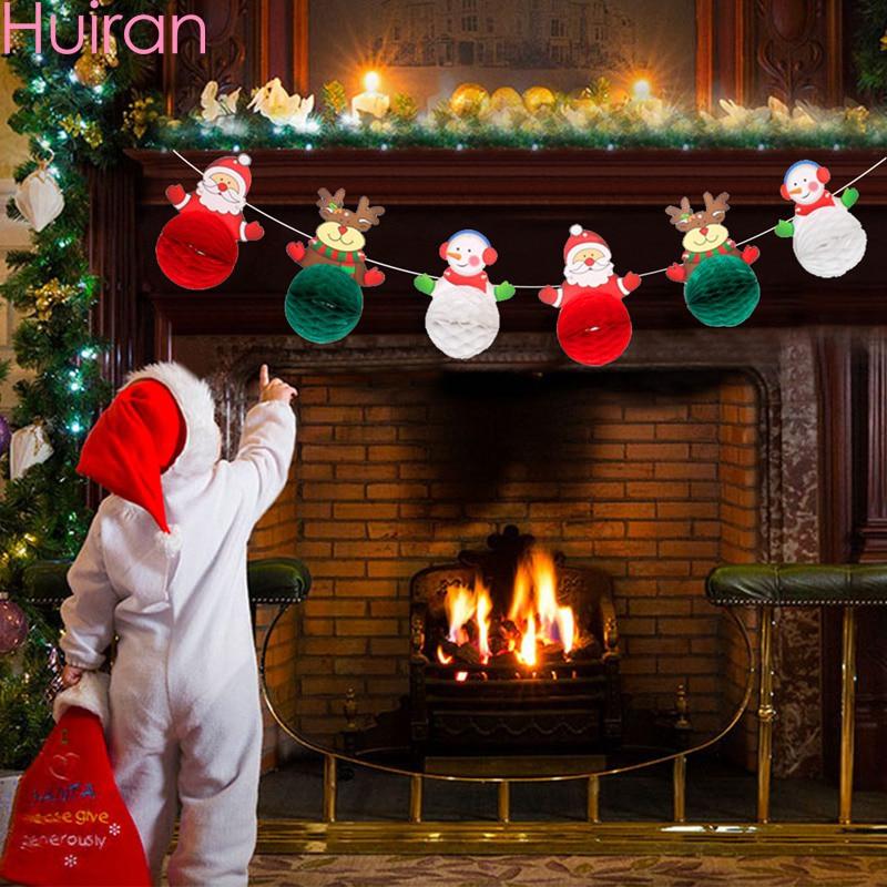 Рождественский баннер, Рождественский Декор для дома, гирлянда, рождественские украшения, Noel Navidad 2019, Рождественский Декор, счастливый новы...