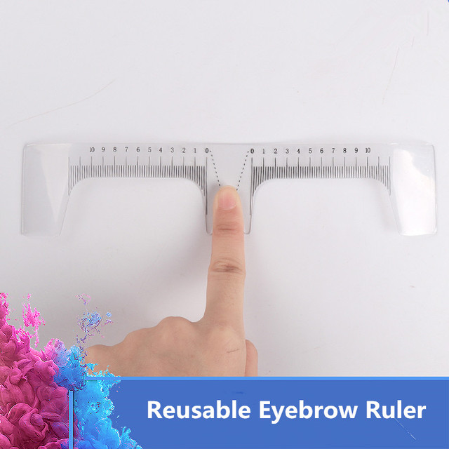 Eyebrow Grooming Stencil Shaper Ruler Reusable Eyebrow Ruler Measure Tool for Permanent Makeup Tattoo Eyebrows Stencil Templatec 2