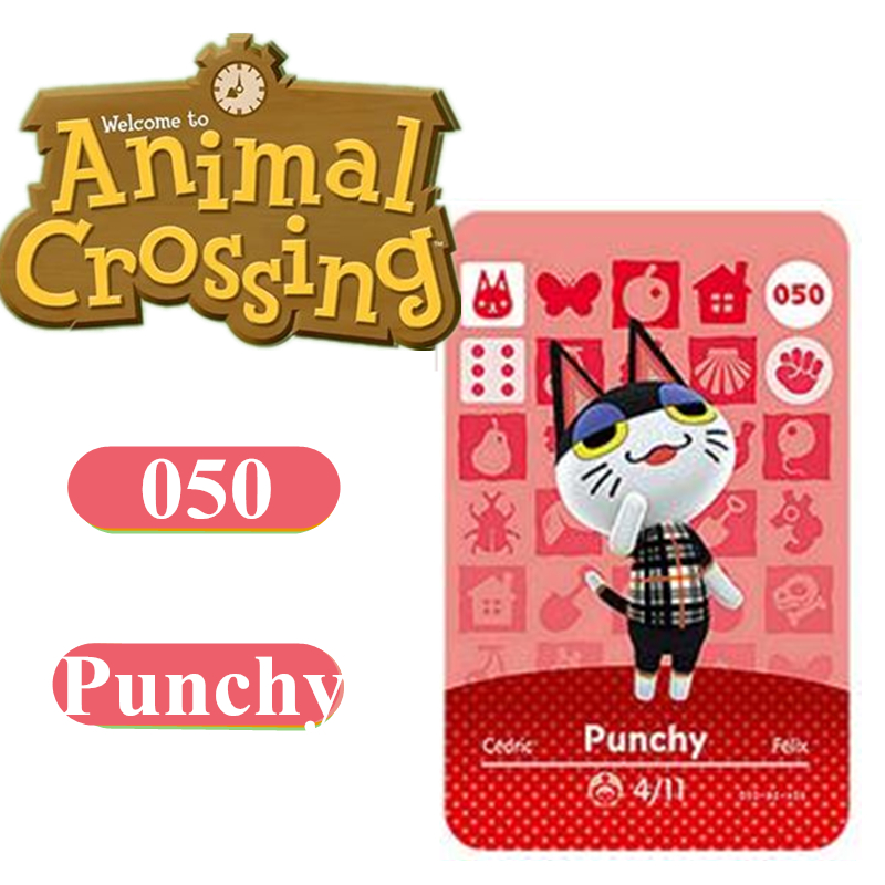 Punchy 50 Animal Crossing Amiibo Card 001 400 Marshal NFC Card For Nintendo Switch NS Games Series 4 3 2 1