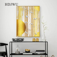 Canvas Home Painting Wall Picture Nordic Golden Printing Posters Pictures for Living Room  Decor DJ607