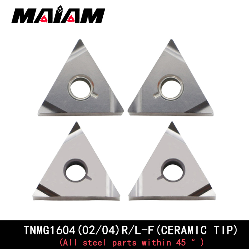 Finition céramique usinage insertion gauche droite TNMG160402 TNMG160404 flûte triangulaire TNMG1604 insertion pour aluminium, acier inoxydable