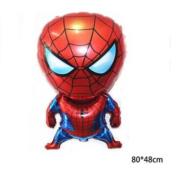 55 x 63CM 3D Spiderman Iron Man Hero Aluminum Foil Balloons Birthday Party Decoration Baby Shower Supplies Globos 6