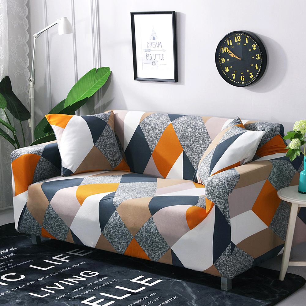 Stretch Slipcover Sectional Elastic Stretch Sofa Cover for Living Room Couch Cover L Shape Corner Armchair Cover 1/2/3/4 Seater 1