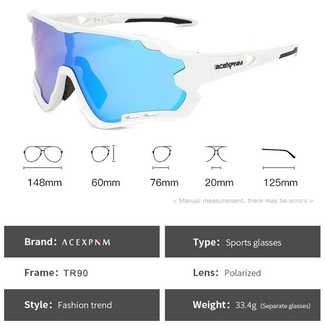 Acexpnm polarizado mountain bike ciclismo óculos de ciclismo esportes ao ar livre óculos uv400 4 lente ciclismo óculos de sol das mulheres dos homens 3