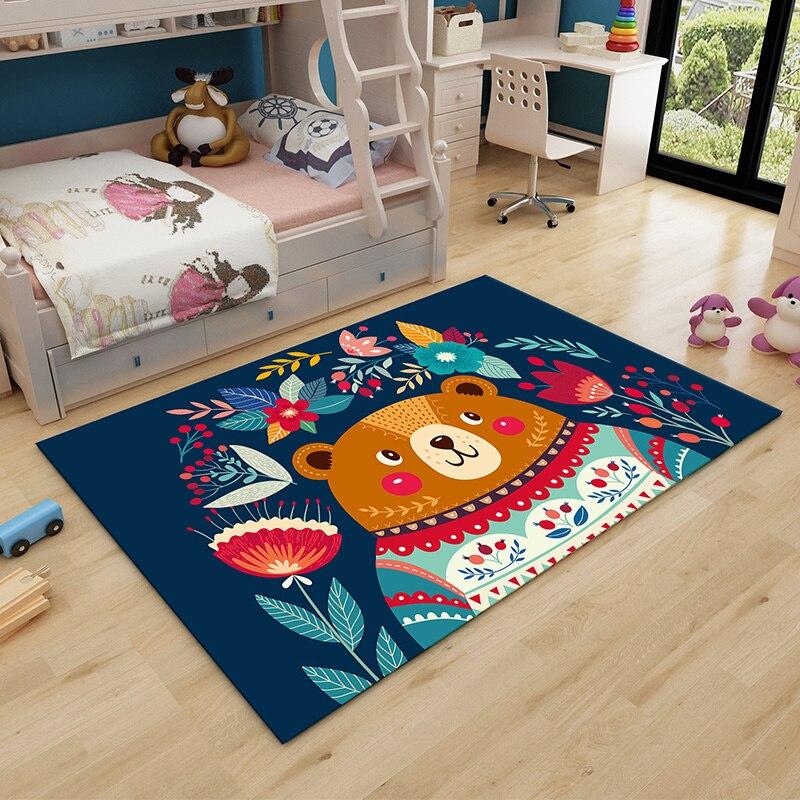 Tapis dessin animé enfant salon chambre enfant tapis chambre tatami complet couverture de lit tapis d'escalade rectangulaire