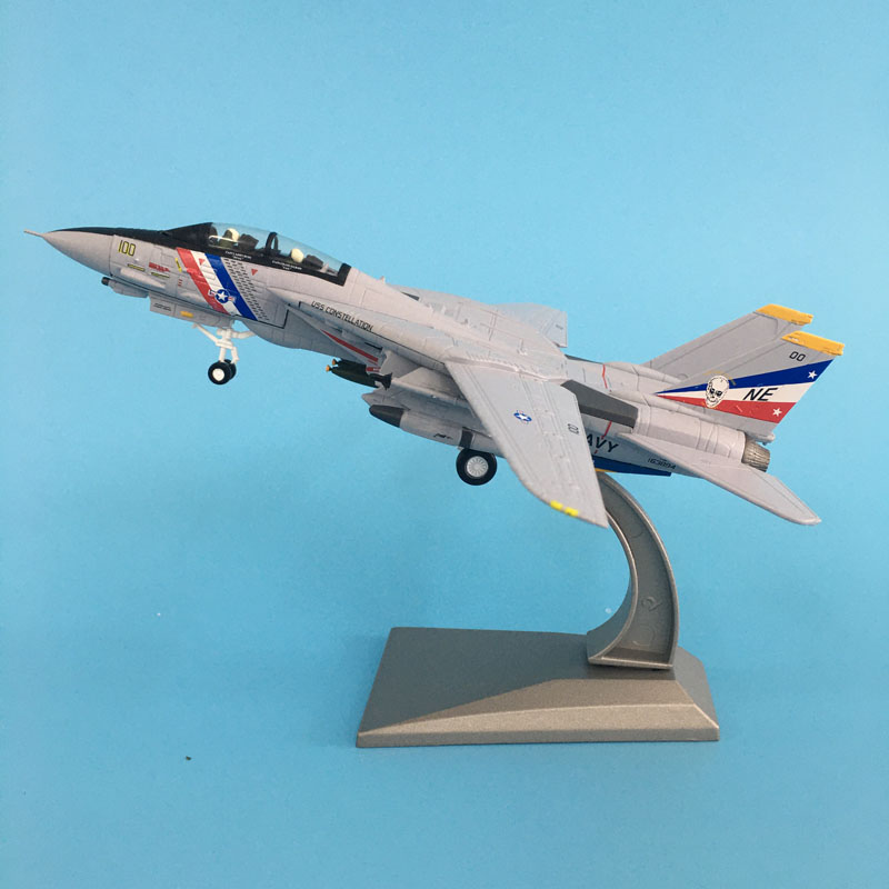 Aircraft Model Diecast Metal 1:100 Scale U.S. American Navy Army F14 Plane Models AirPlane Toy For Collections