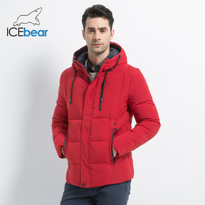 Image 2 - ICEbear 2019 new winter  fashion brand parkas mens jacket simple fashion hooded coat knit cuff design males jackets MWD18926D