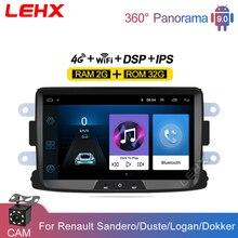 LEHX RAM 2GB Android 9.0 2din araba radyo 8 araba Video multimedya oynatıcı Renault Sandero Duste Logan dokker otomobil radyosu