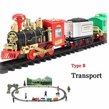 Классический Электрический динамический паровой RC трек поезд набор модельная игрушка для детей перезаряжаемый детский пульт дистанционного управления игрушка набор